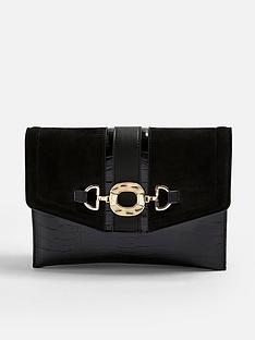 topshop-topshop-croc-clutch-bag-black