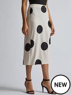 dorothy-perkins-dorothy-perkins-spot-midi-skirt-cream