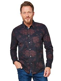joe-browns-rose-print-shirt-navyburgundy