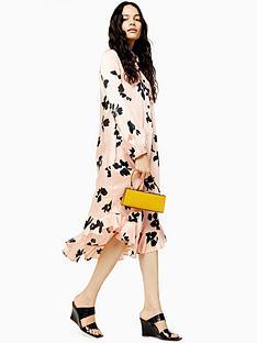 topshop-ruffle-hem-shirt-dress-coral
