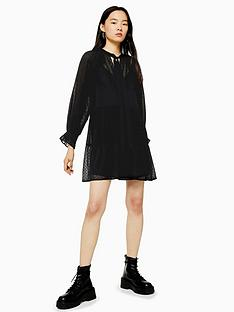 topshop-topshop-dobby-dress-black