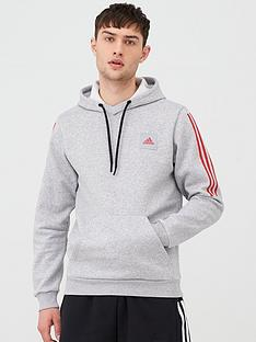 adidas-3-stripes-overhead-hoodie-medium-grey-heather