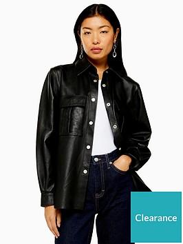 topshop-leather-over-shirt-black