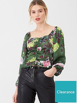 v-by-very-floral-ruched-frontnbspblouse-print