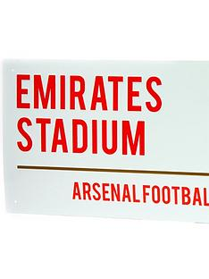 white-football-street-sign