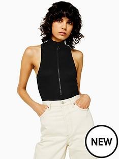 topshop-topshop-ring-pull-ribbed-bodysuit-black