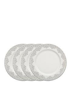 monsoon-denby-filigree-silver-dinner-plates-ndash-set-of-4
