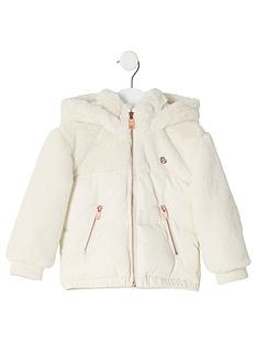 river-island-mini-mini-girls-faux-fur-padded-jacket
