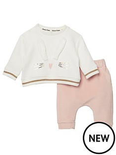 river-island-baby-baby-girls-bunny-sweatshirt-and-legging-set-whitepink