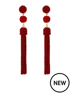 accessorize-bead-and-ball-tassel-earrings-burgundy