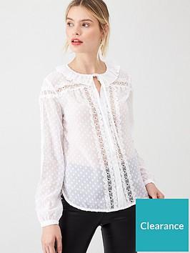 v-by-very-lace-spot-frill-blouse-white