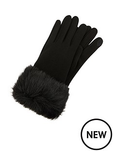 accessorize-faux-fur-cuff-touch-phone-gloves-black