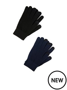 accessorize-super-stretch-recycled-touch-screen-gloves-2-pack