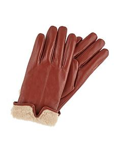 accessorize-faux-fur-leather-gloves-tan