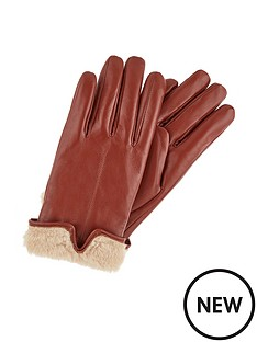 accessorize-faux-fur-leather-gloves-tan