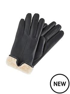 accessorize-faux-fur-leather-gloves-black