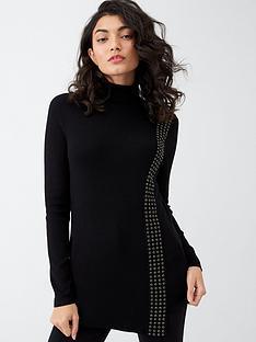 wallis-stud-wrap-jumper-black