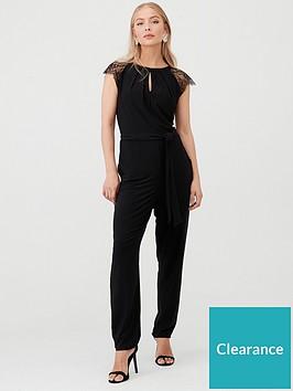 wallis-lace-cap-sleeve-jumpsuit-black