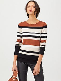 wallis-neutral-stripe-jumper-multi