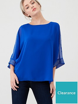 wallis-hotfix-slash-neck-overlayer-top-blue