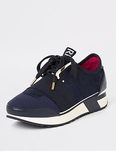 river-island-river-island-lace-up-runner-trainers-navy