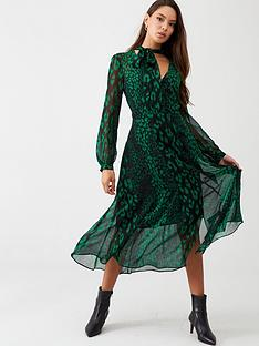 wallis-abstract-animal-dress-green