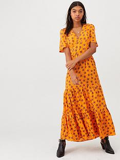 river-island-river-island-star-print-tiered-maxi-dress-orange