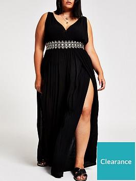ri-plus-ri-plus-diamante-waist-plunge-jumpsuit-black