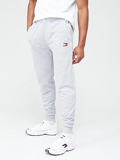 tommy-hilfiger-fleece-cuffed-tape-sweat-pants-light-grey-marl