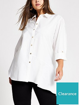 ri-plus-asymetric-hem-shirt-white