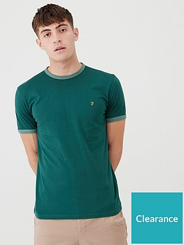 farah-soft-ringer-t-shirt-emerald