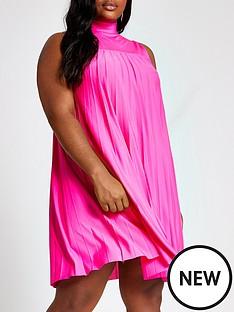 ri-plus-pleated-swing-dress-pink