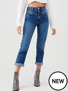 river-island-river-island-mom-rolled-hem-denim-jean-dark-blue
