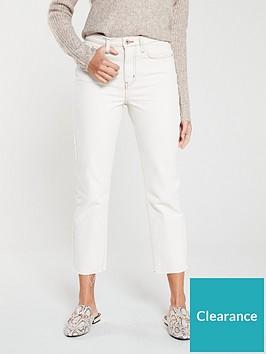 river-island-straight-leg-jeans--cream