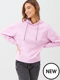v-by-very-contrast-tie-hoodie-pink