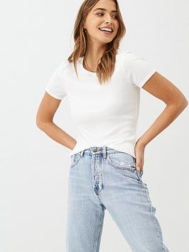 v-by-very-ribbed-round-neck-trim-t-shirt-white