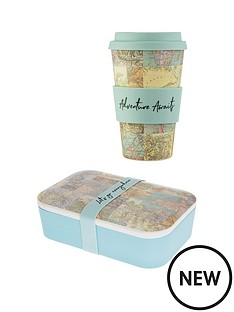 sass-belle-blue-map-collage-adult-bamboo-lunch-box-and-travel-mug