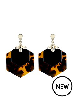 ted-baker-honzza-bumblebee-honeycomb-earrings-light-gold