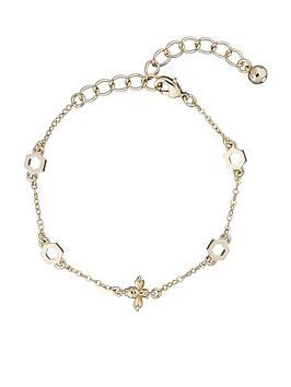 ted-baker-beddia-bumble-bee-chain-bracelet-light-gold
