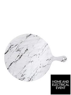 kitchencraft-marble-effect-round-melamine-food-serving-board
