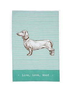 kitchencraft-dachshund-tea-towels-ndash-set-of-2