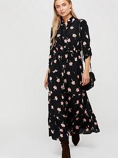 monsoon-mazi-floral-print-tiered-dress-black