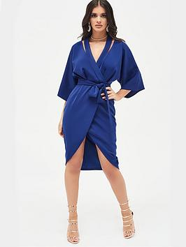 lavish-alice-cut-out-shoulder-wrap-dress-navy