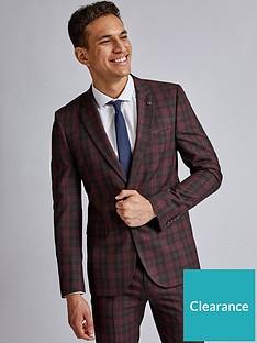 burton-menswear-london-burton-red-black-tartan-skinny-suit-jacket-red