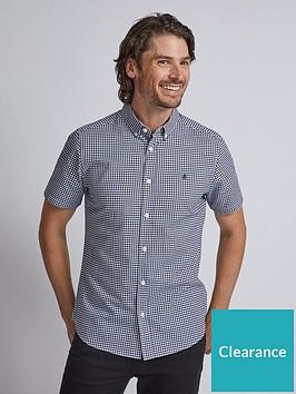 burton-menswear-london-burton-short-sleeve-gingham-oxford-shirt-navy