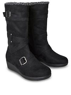 joe-browns-snazzy-and-snug-wedge-boots-black