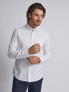 burton-menswear-london-burton-long-sleeve-dot-print-oxford-shirt-white