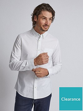 burton-menswear-london-burton-long-sleeve-dot-print-oxford-shirt-white
