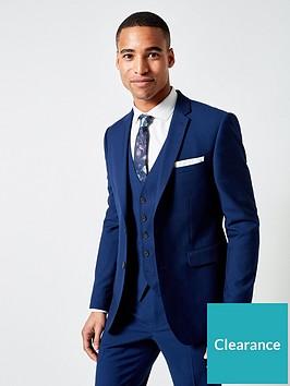 burton-menswear-london-plain-skinny-suit-jacket-blue