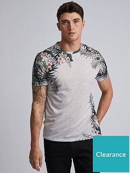 burton-menswear-london-burton-floral-print-t-shirt-grey-marl